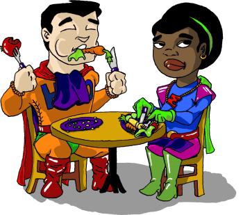 Quyền lực, quyền hành đi chợ, bếp núc nằm hết trong tay mấy bả, thì các ông chồng dù trong thực tế ít khi tỏ ra tình nguyện cũng bị « cưỡng bức » ăn chay một cách êm ái